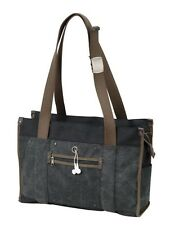 "Cotton Canvas Dual Handles 15"" Laptop Computer Ladies Shoulder Tote Bag - A5835"