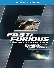 Fast and Furious 7-Movie Collection (Blu-ray Disc, Digital. 2016, 8-Disc Set)