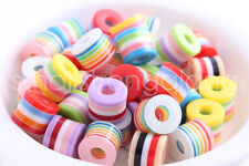 30 pcs mixed color Cylindrical Shape Resin beads charms 11mm