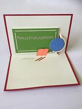 3D Pop Up - Teacher Card - Happy Teacher Day - Craft Greeting Card