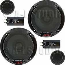 "ALPINE SPR-60C CAR AUDIO STEREO 6.5""/6.75""2-WAY TYPE-R COMPONENT SPEAKER SYSTEM"