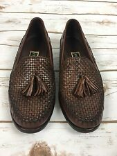 Vintage Cole Hann Woven Brown Leather Woman Loafers Size 6.5