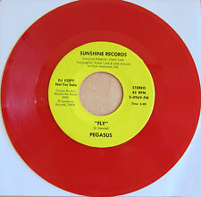 PEGASUS: Fly on Sunshine Records -  Soul / Funk - DJ Promo Red Vinyl VG+