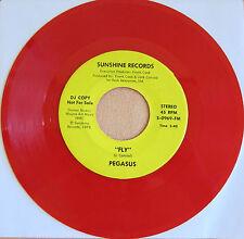 PEGASUS: Fly on Sunshine Records -  Soul / Funk - DJ Promo Red Vinyl VG+