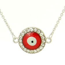 w Swarovski Crystal Amulet Protective Eye Red Pendant Necklace Jewelry Gift