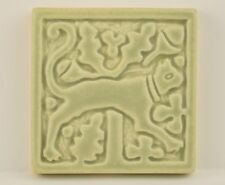 Arts & Crafts Art Pottery Tile Motawi Medieval Cat