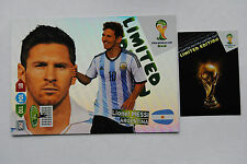 Lionel Messi XXL Limited Edition Panini Adrenalyn XL FIFA World Cup Brasil 2014