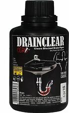 DRAINCLEAR 100% Pure Lye DRY POWDER Clear Clogged Drains Sinks and Pipes 200 gm