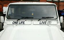 Land Rover Defender 110 90 Air Vent One Life. Live it. decal sticker