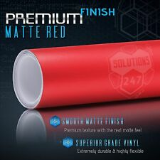 """Matte Flat Red Vinyl Wrap Film Decal Bubble Free Air Release - 12"""" x 60"""" In"""