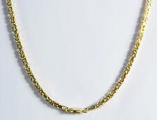 14.20gm 14k Gold Yellow Men's Women's Polished Byzantine Chain Necklace 2mm 24""
