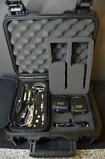 Sennheiser EW100 G3 Wireless Microphones W/ Samson Headset & Carrying Case