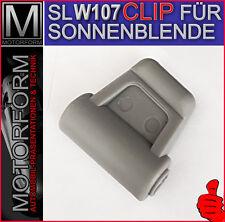 NEU 1x Mercedes SL W107 R107 CLIP SONNENBLENDE GRAU 560SL 300SL 380SL 280SL