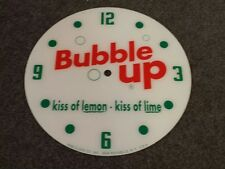 "*NEW*14.25"" BUBBLE UP SODA GAS OIL RD GLASS FACE PAM CLOCK COCA COLA PEPSI"