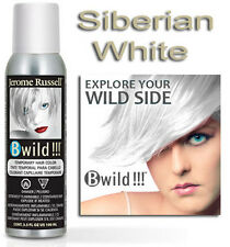 Jerome Russell B WILD TEMPORARY HAIR COLOR SPRAY SIBERIAN WHITE 3.5oz