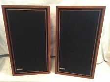 Vintage Electro Voice E-V Nine Mahogany Shelf Speakers ~TESTED and WORKING~