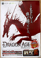 Dragon Age Origins RARE PS3 XBOX 360 51.5 cm x 73 Japanese Promo Poster