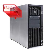 HP Z800 Multi 16-Monitor Computer 2x x5570 8-Core/ 12GB/ 1TB Win 10 Pro