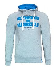 MENS Small OLYMPIQUE MARSEILLE Hooded Top Football Hoodie Adult Soccer Grey