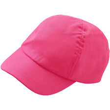 Childs Boys Girls Plain Cotton Peak Baseball Cap Summer Sun Hat 2-6yrs Colours