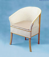 Deluxe Traditional Basketweave Lloyd Loom Wicker Commode Chair Discreet Toilet
