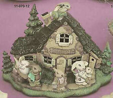 Ceramic Bisque Ready to Paint Bunnyville House Lights Up