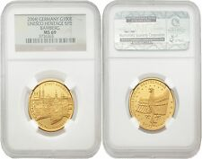 Germany 2004-J Unesco Heritage Site Bamberg 100 Euro Gold NGC MS-69