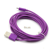 Purple 3m/10ft Micro USB Data Charger Cable Cord for Galaxy S4 Nokia Lumia 920