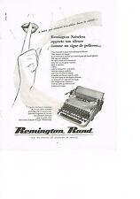 PUBLICITE  1952    REMINGTON  RAND   machine à écrire