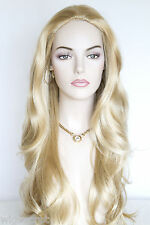 Luxurious long hair with slightly wavy layers and no bang Straight Skin Top Wigs