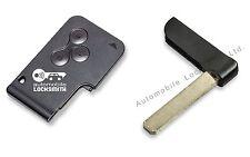 Para Renault Megane Clio Scenic 3 botón Remoto Smart Funda Shell Con Clave Blade