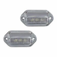 2 LED LICENSE PLATE TAG LIGHT CHROME BOAT TRAILER RV TRUCK INTERIOR STEP LIGHT