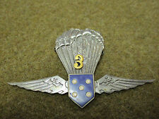 PORTUGAL PRE 1974 YOUTH AIRBORNE PARATROOPER 3 JUMP AWARD BADGE WINGS INSIGNIA