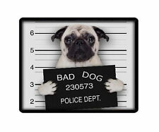 "CERBIATTO Pug ""BAD DOG"" PC COMPUTER MOUSEMAT TAPPETINO PER MOUSE-Animali Pet Amante FOTO REGALO"