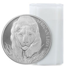 2017 Republic of Chad 5000F 1 oz Silver African Lion - Roll of 20 Coins SKU43310