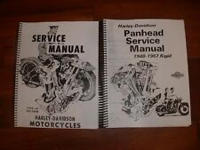 Harley-Davidson 1940-1947 FL knucklehead & 1948-1957 FL Panhead manual set of 2