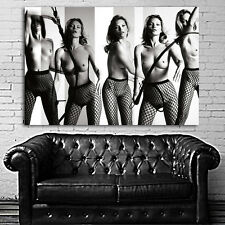 Poster Wall Mural Kate Moss Erotic Model 35x52 inch (90x132 cm) on Canvas