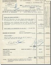 Invoice - Oil mills of Narbonne factory sainte louise 1950