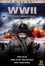 WWII in HD 3-Film Collection (DVD, WS, 2013, 5-Disc Set) NEW