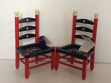NABCO  ABEARICANA stars and stripes furever ladder back CHAIR sold individually