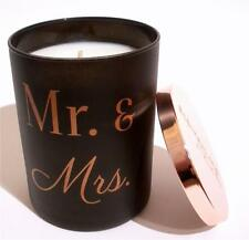 "Mr & Mrs Soy Candle ""Island Retreat"" Scented Glass Wedding Anniversary Gift"