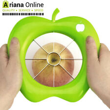 APPLE CUTTER CORER DIVIDER SLICER PEAR FRUIT STAINLESS STEEL METAL PREMIUM