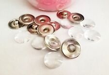20 Supports Boutons pressions chunk et 20 cabochons en verre 16mm ++++++++