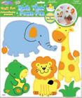 3D BATH TIME FOAM wall stickers JUNGLE ANIMAL 5 decals bathroom decor lion hippo