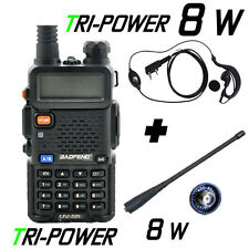Walkie Talkie Baofeng UV5R TRIPOWER 8w. Baofeng UV5R 8W + ANTENA 17 + PINGANILLO