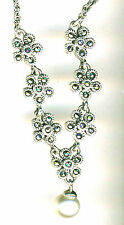 "925 Sterling Silver Pearl & Marcasite Necklace   LENGTH 18""  Wedding etc..Style"