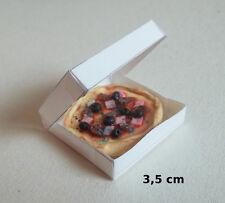 pizza miniature dans sa boite,maison de poupée,vitrine,épicerie,pâtisserie  CL10