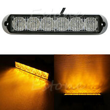 Car Truck Amber Beacon Emergency Lamp Yellow 6 LED Light Hazard Strobe Warning