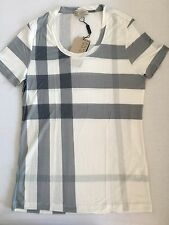 T-shirt Burberry Femme Small Check Blanc