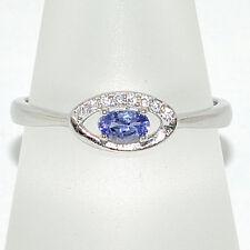 Dezenter 925er Silber Ring mit echtem Tansanit Größe 57